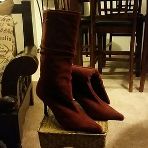 Sexy Red Suede Boots!